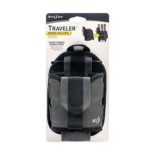 Nite Ize Traveler, Drink Holster, Handsfree Beverage Holder With Rotating Clip