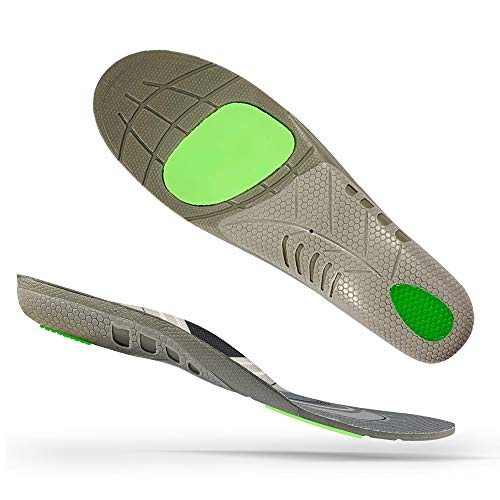 LUJI Plantar Fasciitis Athletic Insoles,Orthotic Shoe Inserts Neutral Arch Supportive with Shock Cushion