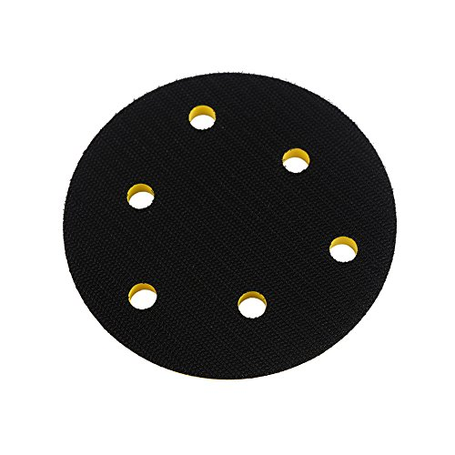 Ouya 2PCS 5 Inch 6-Hole Velcro Backing Pads 5/16-24 Threads Sanding Plate for Dual Action Polisher by Ouya (Image #1)