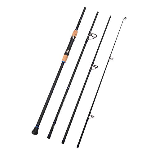 Fiblink 4-Piece Surf Spinning Fishing Rod Portable Carbon Fiber Travel Fishing Rod(10-Feet & 12-Feet & 15- Feet) (12-Feet)