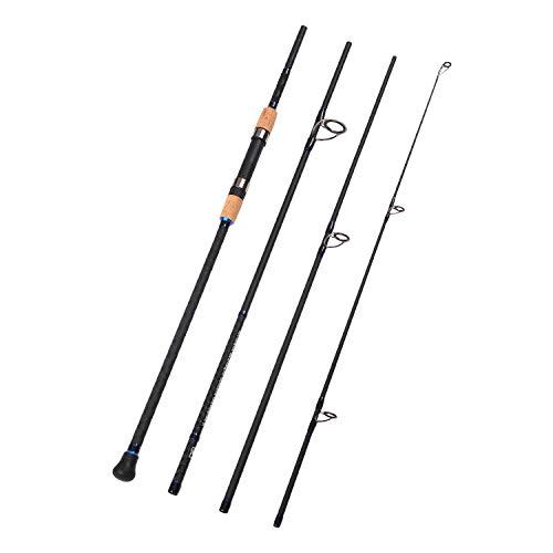 (Fiblink 4-Piece Surf Spinning Fishing Rod Portable Carbon Fiber Travel Fishing Rod(10-Feet & 12-Feet & 15- Feet) (12-Feet))