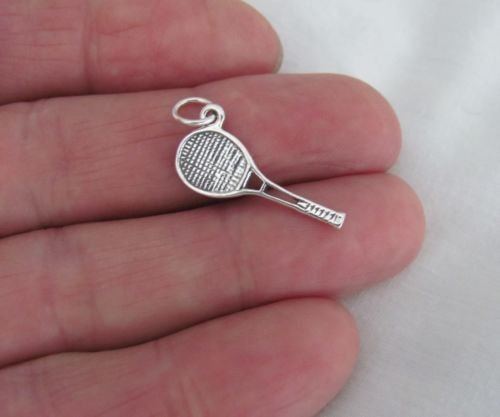 - Sterling Silver tennis racquet charmJewelry Making Supply Charm, Bracelets and More by Wholesale Charms