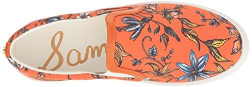 Sam Edelman Kvinna Pixie Mode Sneaker Apelsin Botaniskt Tryck