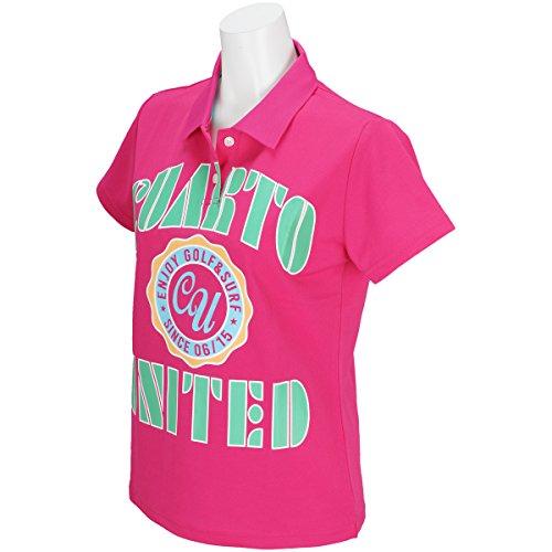 グラフシアークアルトユナイテッド CUARTO UNITED 半袖シャツ?ポロシャツ アーチロゴ半袖ポロシャツ レディス