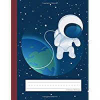 Space Astronaut - Primary Story Journal: Picture Space and Dotted Midline | Grades K-2 School Exercise Book | 100 Story Pages - Red (Spaceships & Galaxy Notebooks For Kids)
