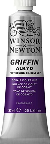 - Winsor & Newton Griffin Alkyd Fast Drying Oil Color Tube, 37ml, Cobalt Violet Hue by Winsor & Newton