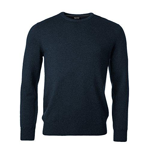 Banana Republic Mens Long Sleeve Crew Neck Sweater Premium Luxe Yarn  Black  Small