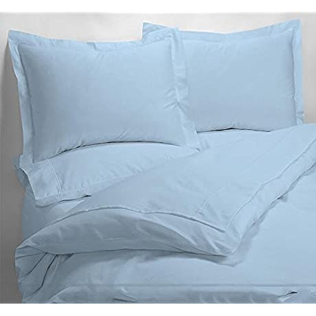 Luxury 600 Thread Counts 7pc Bed In A Bag With 500GSM Comforter Twin Extra Long Size Sky Blue Solid 100 Egyptian Cotton By PARADISEHOUSE