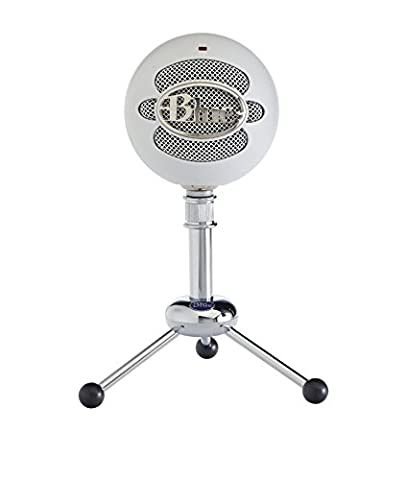 Blue Snowball USB Microphone (Textured White) (Blue Mic)