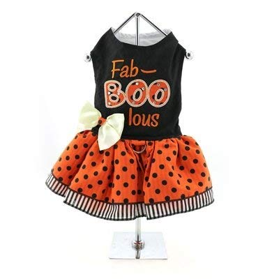 DOGGIE DESIGN Holiday Dog Harness Halloween Dress - Fab-Boo-lous (XS)
