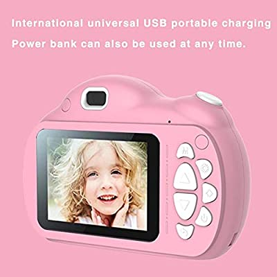 Kids Digital Cameras For Boys Gifts HD 2.4 Inches Screen Video Camera,Mini 1080P Rechargeable Children Digital Camcorders For Kids Children Selfie Toy Camera Anti-fall Child Camcorder For Age 3-14: Electronics
