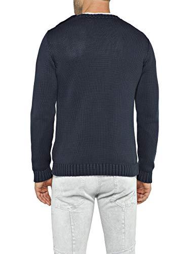 Blue dark Replay 500 Hombre Para Suéter Azul Aq7vWzpZq