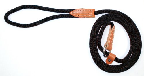 Hamilton 3/8″ x 6′ London Quick Lead and Choke Collar for Dogs, Black, My Pet Supplies