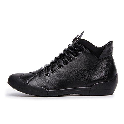Btrada Womens Flat Sport Scarpe Da Corsa Stringate Nero Casual Sportivo Sneaker Da Jogging Nero Peluche