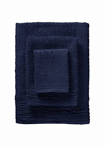 Nine Space 12 Piece Pleated Towel Set, Marine Blue by Nine Space