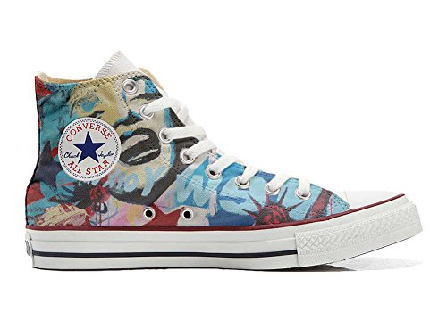 Baskets Converse Custom All Star (chaussures Faites À La Main), Unisexe-adulte New York City