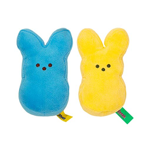 (Peeps Plush Bunny Set -- 2 Bunnies (Blue Bunny, Yellow)