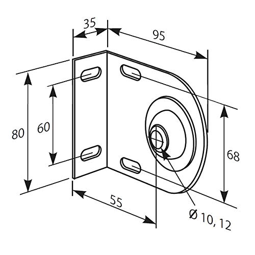 Somfy LT50 Idler Bracket with 12mm Hole Nylon Bearing