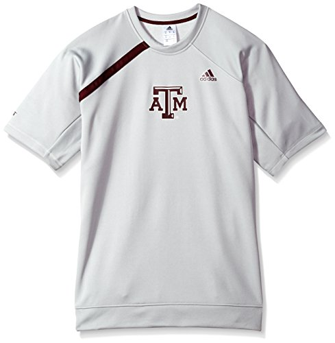 - adidas NCAA Texas A&M Aggies Mens On Court S/Shooting Shirton Court S/Shooting Shirt, Gray, Large