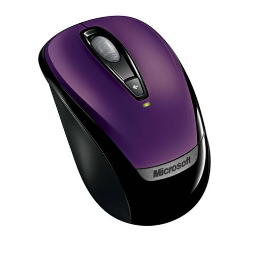 Microsoft Wireless Mobile Mouse 3000 - Purple (Mobile Mouse 3000 Usb)