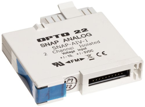 Opto 22 SNAP-AIV-i - SNAP Analog Voltage Input Module, 2 Isolated Channels, -10 VDC to +10 VDC or -5 VDC to +5 VDC Input