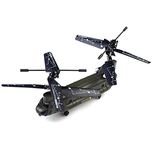 Safstar Syma S026G Mini Chinook 3 Channel Remote Control Helicopter with GYRO (Rc Army Helicopter Large)