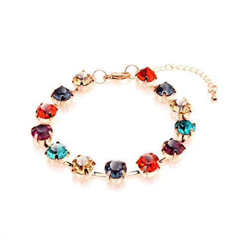 Time Pawnshop Elegant Colorful Cubic Zirconia Teardrop Noble Lady Bracelet (Build A Bear Stroller compare prices)