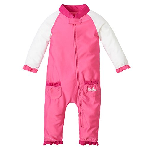 UV SKINZ UPF 50+ Baby Girls' Sun & Swim Suit - Bubblegum Pink/White - 3T