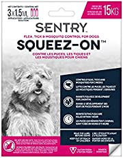 Sentry Flea, Tick & Mosquito Control for Dogs Weighing up to 15 kg, 3 Tubes