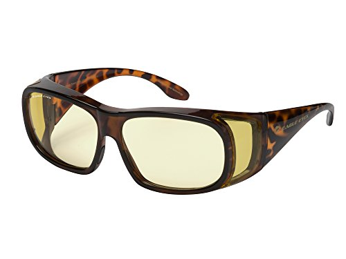 Eagle Eyes Night-LITE FitOns Night Driving Glasses with Anti Reflective Coating - Tortoise