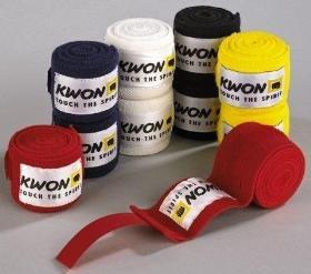 KWON Elastische Boxbandagen schwarz