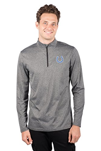 - ICER Brands Men's Quarter Zip Pullover Shirt Athletic Quick Dry Tee, Gray, Heather Charcoal 18, Large