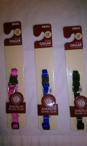 "AKC Small Dog collar 3/8"" Width x 8-12"""