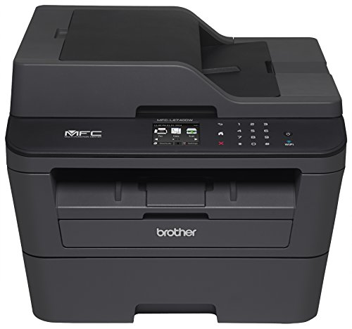 Brother Printer MFCL2740DW Wireless Monochrome Printer with Scanner, Copier & Fax (Certified Refurbished) ()