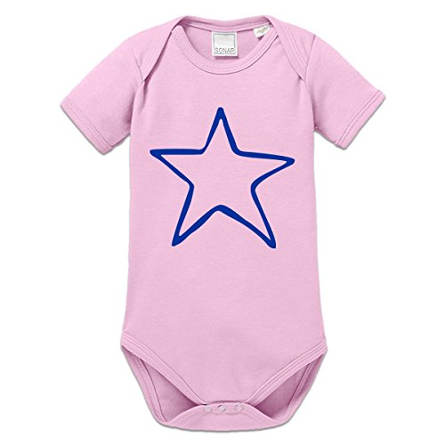 Shirtcity Star Scribble Baby One Piece 68 Pink (Scribble Stars)