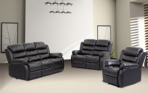 BestMassage Sofa Recliner Sofa Set Reclining Chair sectional Love seat for Living Room Modern Furniture Classic and Traditional ()