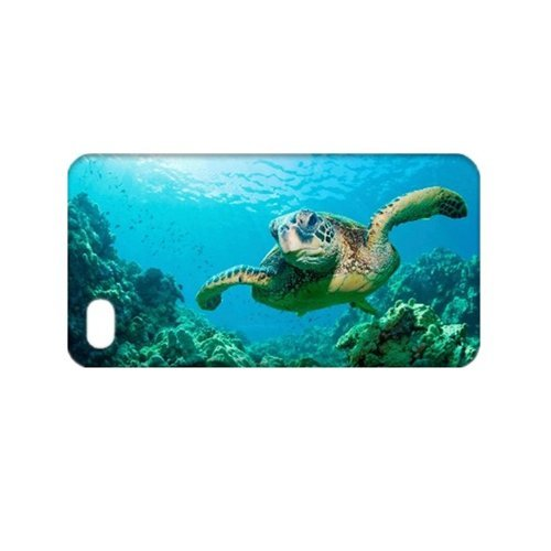 Sea Turtle Coral Reef TPU Case for iPhone 4/4S (Coral Iphone 4 Case)