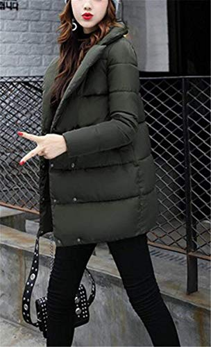 Puro Colore Bottoni Manica Tasche Autunno Donna Outerwear Trapuntata Lunga Trapuntato Cappotto Anaisy Invernali Armgrün Festivo Giovane Piumino Giacca Con Giacche Vintage Chiusura qOHnw7