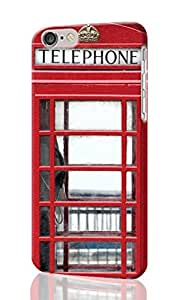 "Red Telephone Box 3D Rough iphone 6 -4.7 inches Case Skin, fashion design image custom iPhone 6 - 4.7 inches , durable iphone 6 hard 3D case cover for iphone 6 (4.7""), Case New Design By Codystore"