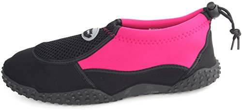 On Black Aqua Sport Shoe Slip Neo Beach Drawstring Women's Enimay Water Vacation fuchsia Summer gEqTz