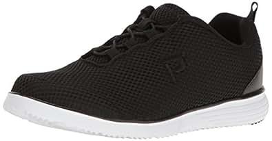 Propet Women's TravelFit Prestige Walking Shoe, Black, 6 2A US
