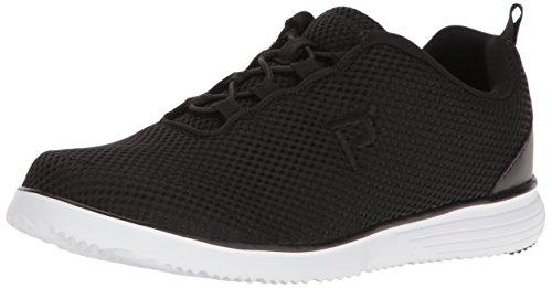 (Propet Women's TravelFit Prestige Walking Shoe, Black, 11 2E US)