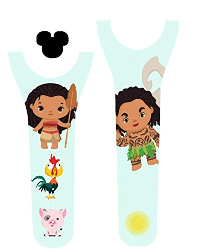 Vinyl Skin Decal Wrap Sticker Cover for The MagicBand 2 | Magic Band 2.0 Hawaiian Princess]()