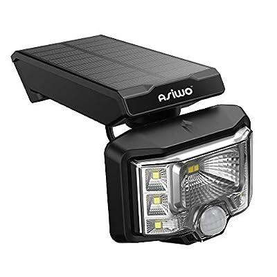 ASIWO Super Bright 8 LED Outdoor Wireless Spotlights, dynami Sensor, Motion Sensor Light, Wall Solar Light