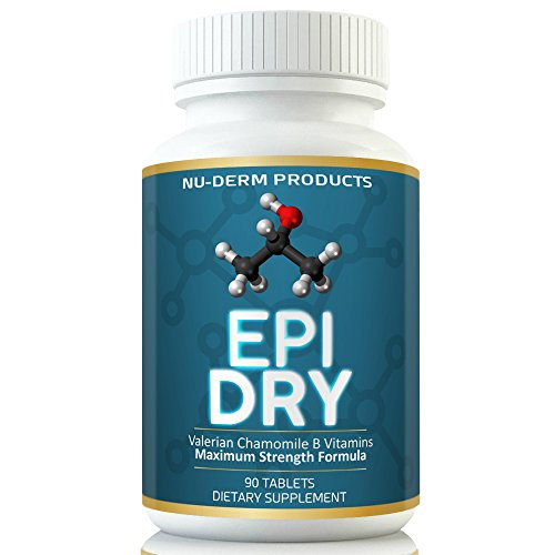 Nuderm Epi Dry HYPERHIDROSIS Treatment Pills Stop Sweating, Sweaty Hands Sweaty Feet Night Sweats Stress Sweat Sweaty Underarms Naturally Proven Antiperspirant Vitamins Treats Hyperhidrosis (Best Medication For Hyperhidrosis)