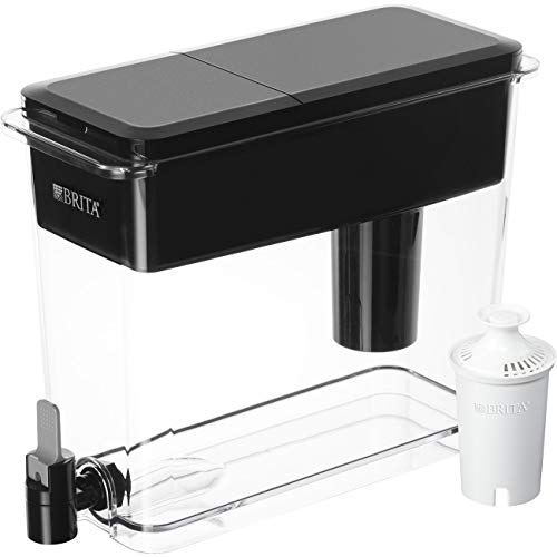 Brita Extra Large 18 Cup UltraMax Water Dispenser and Filter - BPA Free - Black Break Glass Money Box