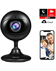 Wansview 1080P Wireless IP Camera, WiFi Home Security Indoor Camera for Baby/Elder/Pet/Nanny Monitor with Night Vision and Two-Way Audio