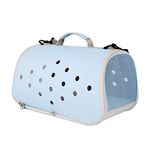 PPETt Cat Backpack, Soft Sided Pet Carrier for Dogs & Cats Comfort Airline Approved Under Seat Travel Tote Bag Backpack, Travel Bag for Small Animals with Mesh Top and Sides, Blue ()