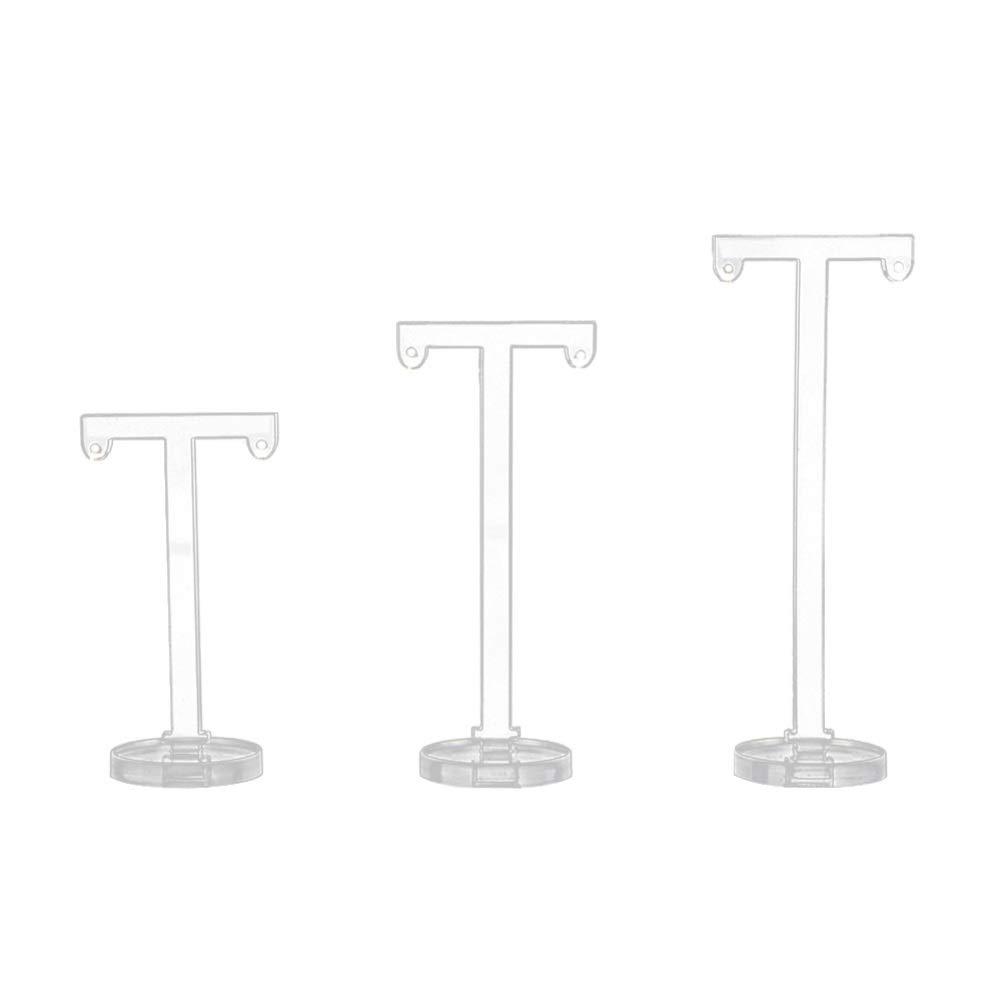 ferias Tiendas TOPBATHY 6 Piezas Soporte para aretes en Forma de T Organizador de Joyas de acr/ílico para exhibir aretes para artesan/ías hogar