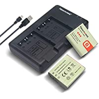 LP E6 LP E6N Newmowa Battery (2 Pack) and Dual USB Charger for Canon LP-E6, LP-E6N and Canon EOS 5D Mark IV,EOS 5D Mark III,EOS 5D Mark II,EOS 6D,EOS 7D,EOS 7D Mark II,EOS 60D,EOS 70D,EOS 80D,XC10 …